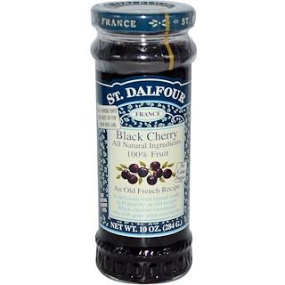 St. Dalfour, Black Cherry, Deluxe Black Cherry Spread, 10 oz (284 g)
