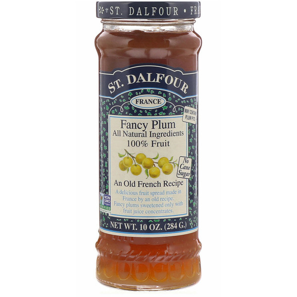 St. Dalfour, Fancy Plum, Fruit Spread, 10 oz (284 g) (Discontinued Item)