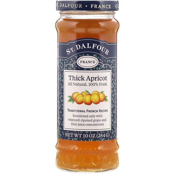 St. Dalfour, Thick Apricot, Deluxe Thick Apricot Spread, 10 oz (284 g) (Discontinued Item)