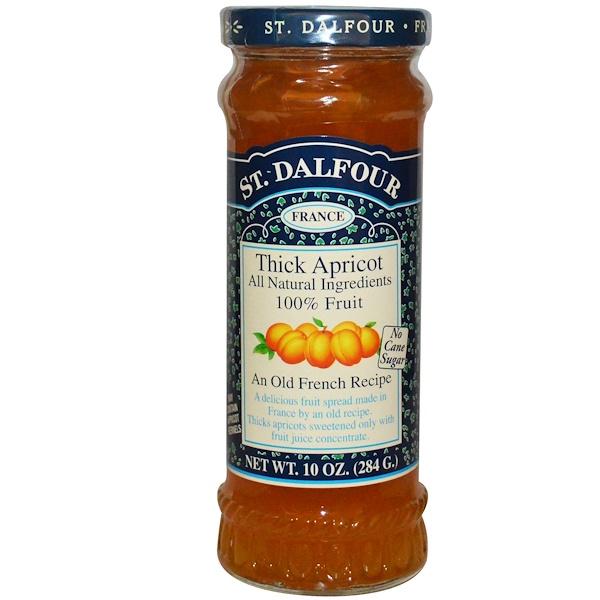 St. Dalfour, Thick Apricot, Deluxe Thick Apricot Spread, 10 oz (284 g)