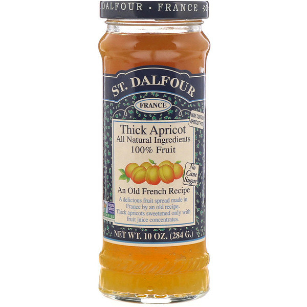 St. Dalfour, Thick Apricot, Deluxe Thick Apricot Spread, 10 oz (284 g)