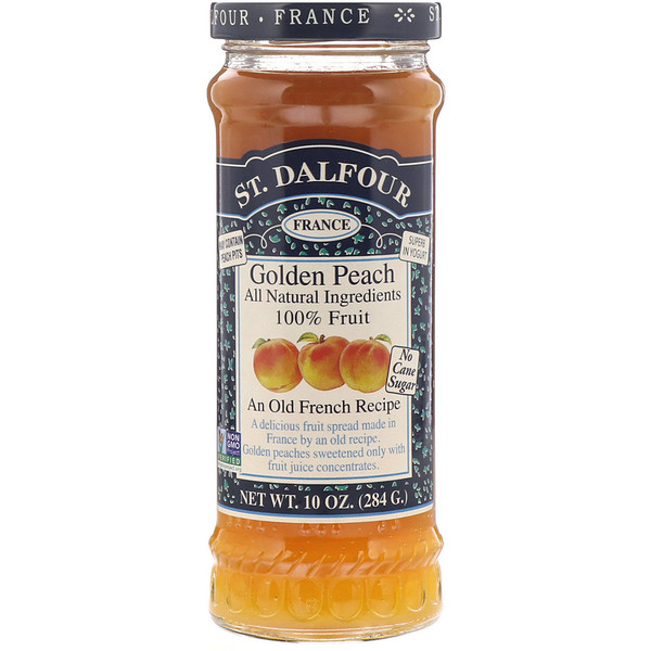 St. Dalfour, Golden Peach, Deluxe Golden Peach Spread, 10 oz (284 g)