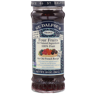 St. Dalfour, Four Fruits, Deluxe Four Fruits Spread, 10 oz (284 g)