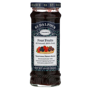 St. Dalfour, Deluxe Four Fruits Spread, 10 oz (284 g)