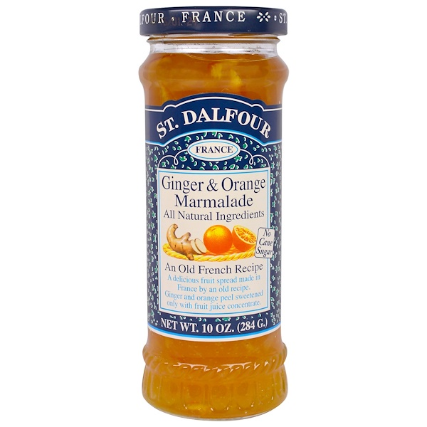 St. Dalfour, Ginger & Orange Marmalade, Fruit Spread, 10 oz (284 g)