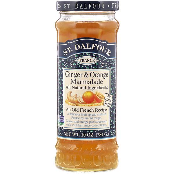 St. Dalfour, Ginger & Orange Marmalade, Fruit Spread, 10 oz (284 g) (Discontinued Item)
