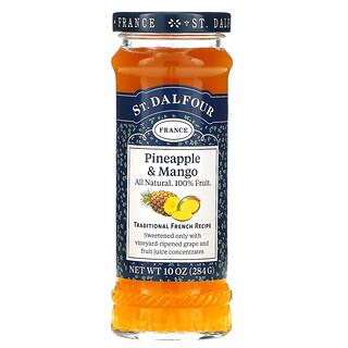 St. Dalfour, Deluxe, джем из ананаса и манго, 284г (10унций)