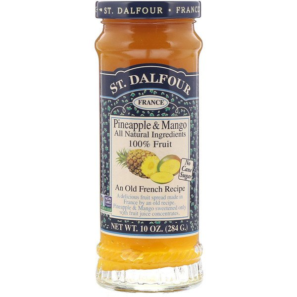 St. Dalfour, Pineapple & Mango, Fruit Spread, 10 oz (284 g)