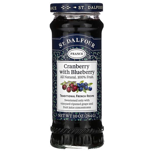 St. Dalfour, 蔓越橘,豪華蔓越橘和藍莓果醬製品,10盎司(284克)