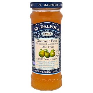 St. Dalfour, Gourmet Pear, 100% Fruit Spread, 10 oz (284 g)