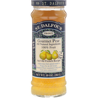 St. Dalfour, Gourmet Pear, 100% Fruit Spread, 10 oz (284 g)