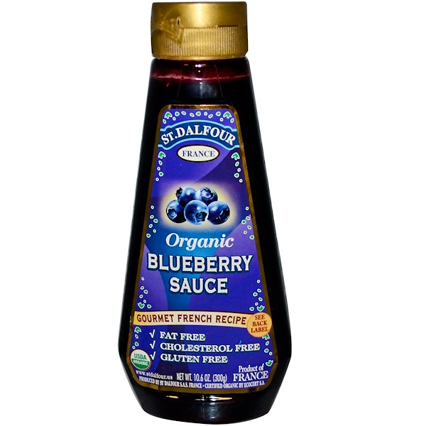 St. Dalfour, Organic Blueberry Sauce, 10.6 oz (300 g) (Discontinued Item)