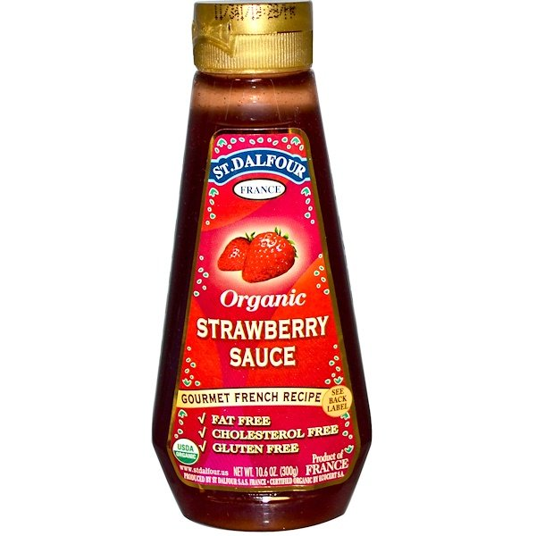 St. Dalfour, Organic Strawberry Sauce, 10.6 oz (300 g) (Discontinued Item)