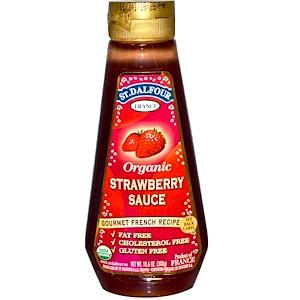 Ст Далфур, Organic Strawberry Sauce, 10.6 oz (300 g) отзывы