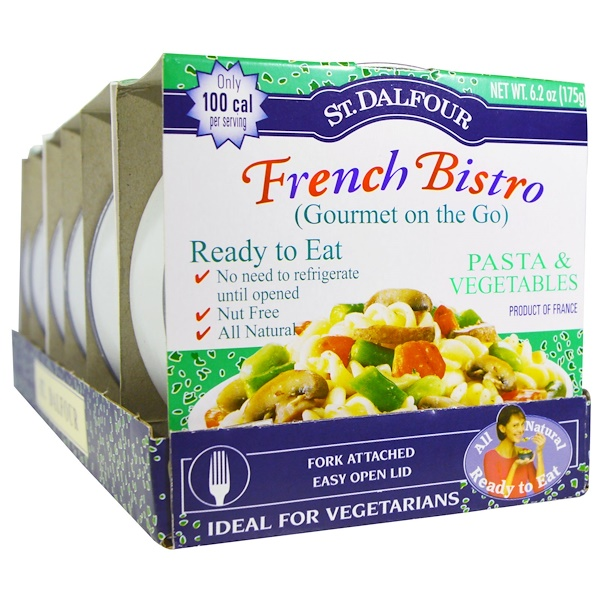 St. Dalfour, French Bistro (Gourmet on the Go), Pasta & Vegetables, 6 Pack, 6.2 oz (175 g) Each (Discontinued Item)