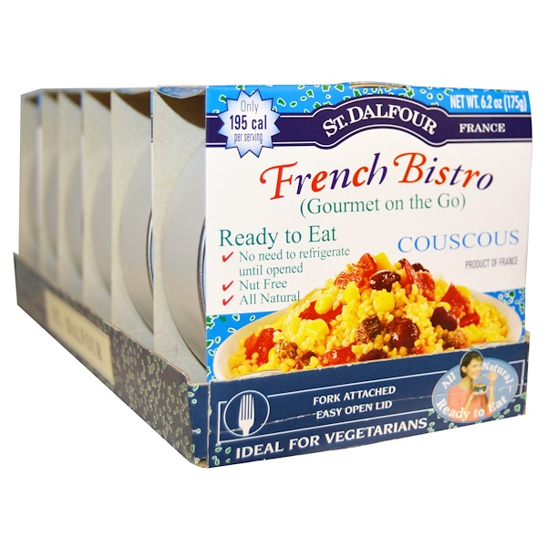 St. Dalfour, Gourmet on the Go, French Bistro, Couscous, 6 Pack, 6.2 oz (175 g) Each (Discontinued Item)