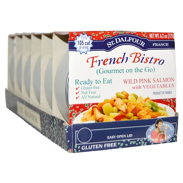 St. Dalfour, French Bistro, Wild Pink Salmon with Vegetables, 6 Pack, 6.2 oz (175 g) Each