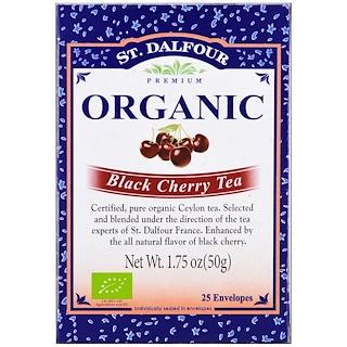 St. Dalfour, Organic, Black Cherry Tea, 25 Envelopes, 1.75 oz (50 g)
