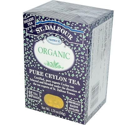 Органический цейлонский чай, 25 пакетиков, 1,75 унции (50 г)