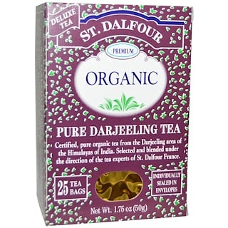 St. Dalfour, Organic Pure Darjeeling Tea, 25 Tea Bags, .07 oz (2 g) Each