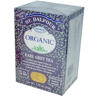 Органический чай с бергамотом, 25 чайных пакетов, 50 г