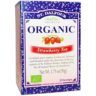 St. Dalfour, Organic Strawberry Tea, 25 Envelopes, 1.75 oz (50 g)