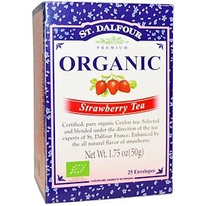 Ст Далфур, Organic Strawberry Tea, 25 Envelopes, 1.75 oz (50 g) отзывы покупателей