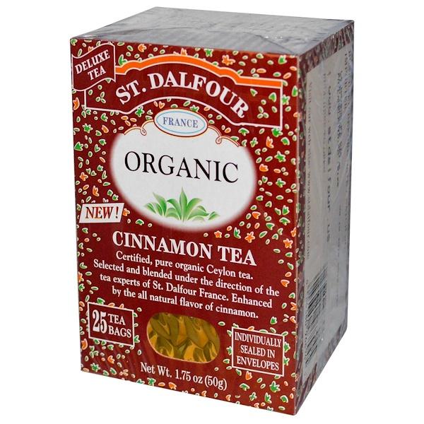 St、 Dalfour, 肉桂茶,25茶包,1、75盎司(50克)