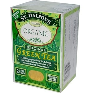 Ст Далфур, Organic, Original Green Tea, 25 Tea Bags, 1.75 oz (50 g) отзывы покупателей