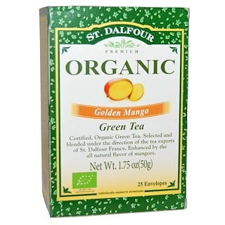 St. Dalfour, Organic, Golden Mango Green Tea, 25 Envelopes, 1.75 oz (50 g)
