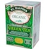 St. Dalfour, サンダルフォー, Organic, Green Tea, Strawberry Rose, 25 Tea Bags, 1.75 oz (50 g)