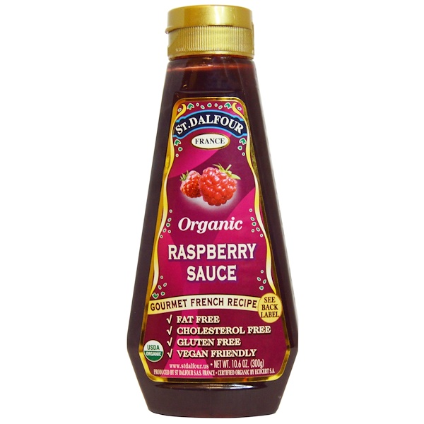 St. Dalfour, Organic Raspberry Sauce, 10.6 oz (300 g) (Discontinued Item)