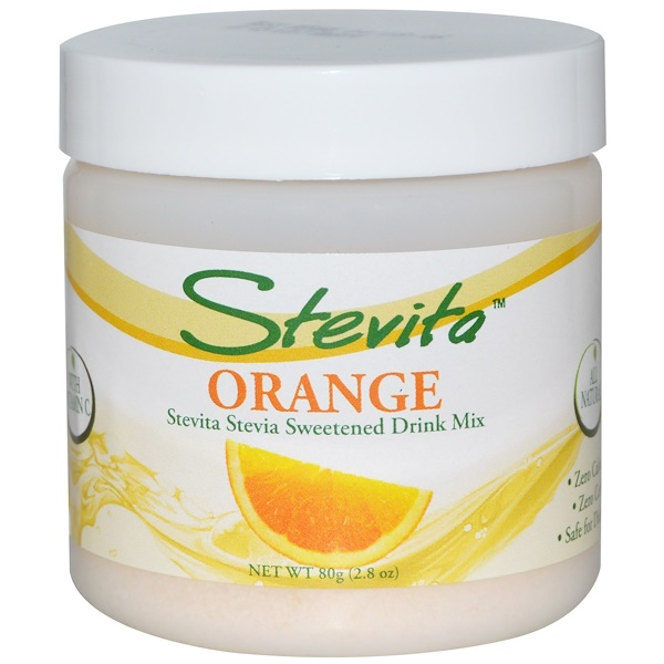 Stevita, Stevia Sweetened Drink Mix, Orange, 2.8 oz (80 g) (Discontinued Item)