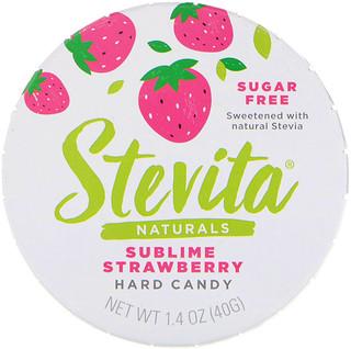 Stevita, Naturals, Sugar Free Hard Candy, Sublime Strawberry, 1.4 oz (40 g)