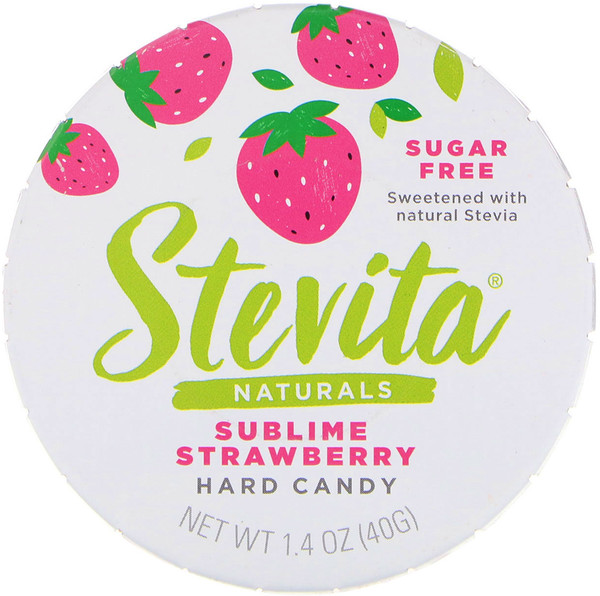 Stevita, Naturals, Sugar Free Hard Candy, Sublime Strawberry, 1.4 oz (40 g)