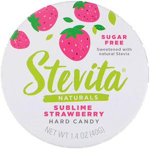 Стевия, Naturals, Sugar Free Hard Candy, Sublime Strawberry, 1.4 oz (40 g) отзывы