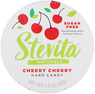 Stevita, Naturals, Sugar Free Hard Candy, Cheery Cherry, 1.4 oz (40 g)