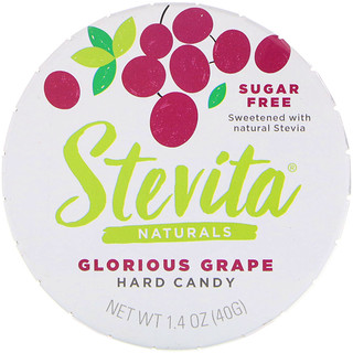 Stevita, Naturals, Sugar Free Hard Candy, Glorious Grape, 1.4 oz (40 g)