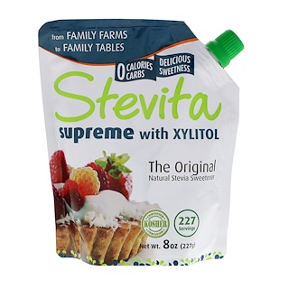 Stevita, Supreme with Xylitol, Original, 8 oz (227 g)
