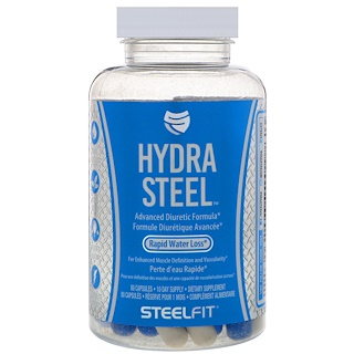 SteelFit USA, Hydra Steel, Advanced Diuretic Formula, 80 Capsules