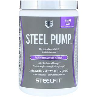 SteelFit USA, Steel Pump, Peak Performance Pre-Workout, Grape Soda, 14.8 oz (420 g)