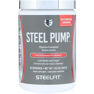 SteelFit USA, Steel Pump, Peak Performance Pre-Workout, Watermelon Lemonade, 14.8 oz (420 g)
