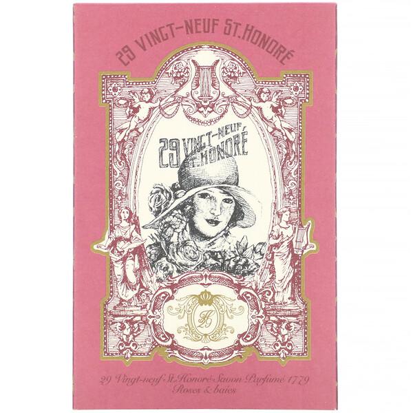Savon Parfume 1779, Roses & Baies,  4.76 oz (135 g)