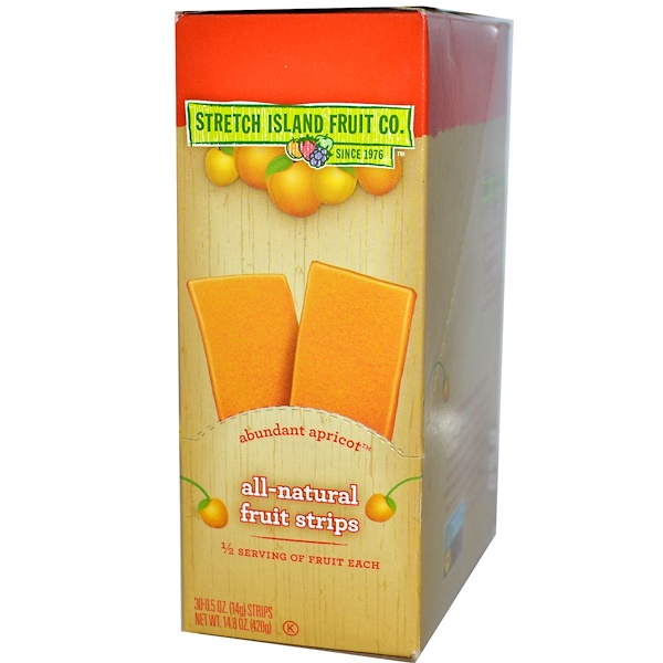 Stretch Island, All-Natural Fruit Strips, Abundant Apricot, 30 Strips, 0.5 oz (14 g) Each (Discontinued Item)