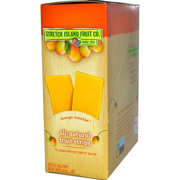 Stretch Island, All-Natural Fruit Strips, Mango Sunrise, 30 Strips, 0.5 oz (14 g) Each  (Discontinued Item)