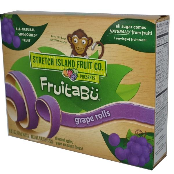 Stretch Island, Fruitabü, Grape Rolls, 6 Rolls, 0.7 oz (21 g) Each (Discontinued Item)