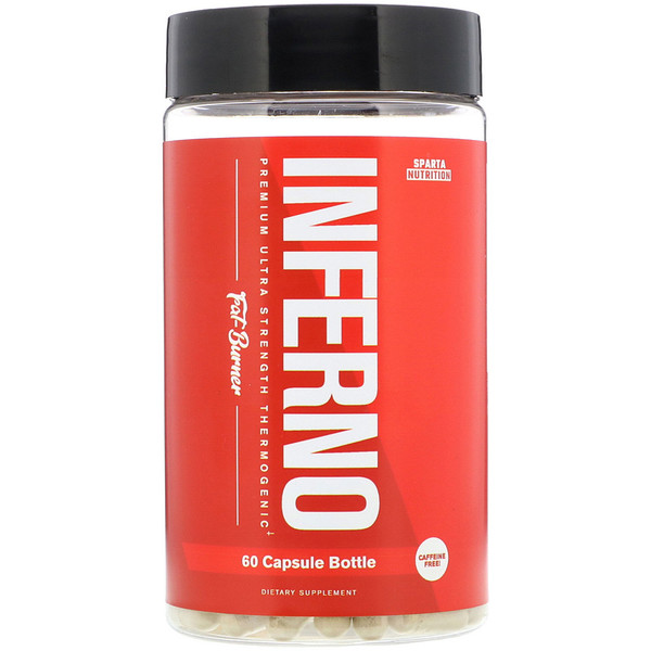 Sparta Nutrition, Inferno, Premium Ultra Strength Thermogenic Fat-Burner, 60 Capsules (Discontinued Item)