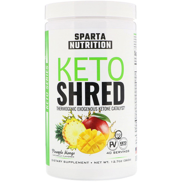 Sparta Nutrition, Keto Shred, Pineapple Mango, 12.7 oz (360 g) (Discontinued Item)