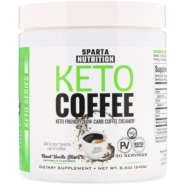 Sparta Nutrition, Keto Series, Keto Coffee, French Vanilla Bliss,  8.5 oz (240 g)