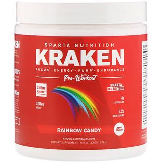 Sparta Nutrition, Kraken Pre-Workout, Rainbow Candy, 11.29 oz (320 g)